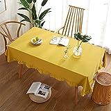NTtie Cubierta de Mesa de Simples Adecuado para la decoración de cocinas caseras, Varios tamaños Volante de Color Liso