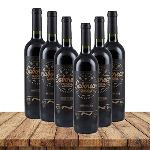 Saborear Tempranillo Reserva 2014| Weinpaket Rotwein (6 x 0,75 Liter) | Rotweine aus Spanien