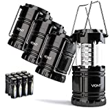 Vont 4 Pack LED Camping Lantern, LED Lantern, Suitable for Survival Kits for Hurricane, Emergency...