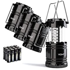 SUPER BRIGHT & LONG LASTING ––– Equipped with 30 crazy bright LEDs, this compact lantern cuts through 360 degrees of darkness on the stormiest, dimmest nights. Easily lights up the entire tent or room. Battery life lasts over 90 hours - that is TWICE...