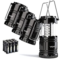 Vont 4 Pack LED Camping Lantern, LED Lantern, Suitable for Survival...