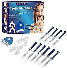 Teeth Whitening Kit,Teeth Whitening Gel,Reusable Dental Whitening Kit, Teeth Whitening Tray Kitto reduce Yellow Teeth and Smoke Marks Black Teeth