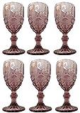 Vintage 6 Teile Set Schleife Weinglas Glas Gläser Weingläser Eisbecher Wasserglas Longdrinkglas...