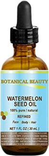 Botanical Beauty Egyptian WATERMELON SEED OIL - Oil Of The Egyptian Kings. 100% Pure / Natural. Cold Pressed / Virgin / Undiluted. For Face, Hair And Body. 30 ml / 1oz Best Selling Beauty Oil In Europe.