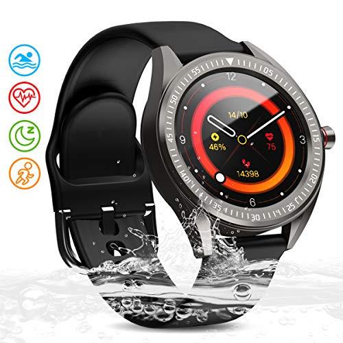 Zagzog Smartwatch 1,3 Zoll Touch-Farbdisplay GPS Fitness Armbanduhr mit Schlafmonitor Fitness Tracker IP68 Wasserdicht Sportuhr Herzfrequenz Schrittzähler iOS Android Smart Watch für Damen Herren