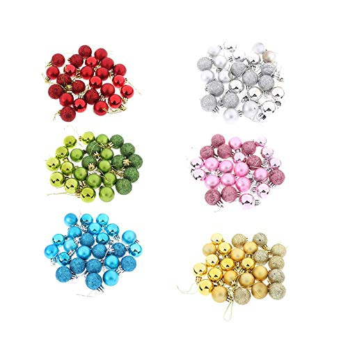 DatingDay 144pcs Christmas Balls Shatterproof Christmas Tree Ball Ornaments Decorations for Xmas Trees Wedding Party Home Decor Multicolor