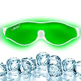LUMONY® Aloe Vera Cool Gel Eye Mask Summer Ice Cooling Sleeping Mask for Eye Patches Remove Dark Circles Fatigue Cool Eyes Patch Pads Suitable for All Family Members (Made In India)