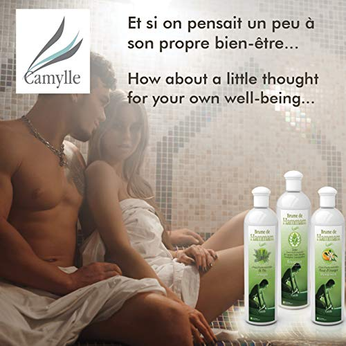 Camylle – Brume de Hammam – Emulsion von Ätherischen Ölen für Dampfbad – Eukalyptus – Atmungsaktiv – 250ml - 4