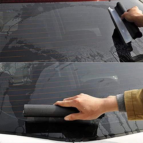 N\A Vehículo de automóvil Ventana de Parabrisas Lavado Limpieza Accesorios DE Coche Auto SILICONO Agua Limpieza Limpiador de jabón Scraper Blade Squeebee raspador Hielo Coche (Color : Black)
