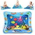 KidPal Baby Tummy Time Mat for Infant 6 7 8 9 10 12 Month, Inflatable Water Playmat Baby Toys for 6 7 8 9 10 12 Month Old Newborn Boys Girls Sensory Toy, Early Development Activity Centers