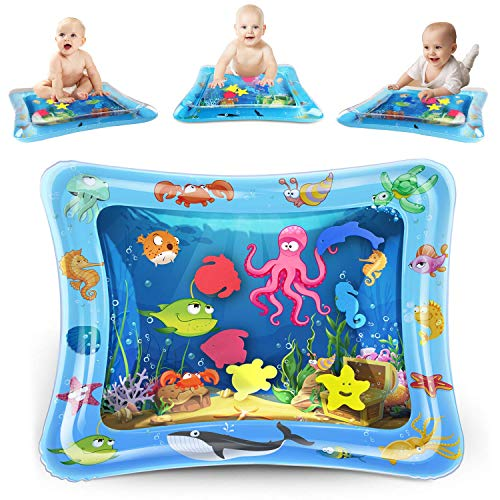 For Sale! KidPal Baby Tummy Time Mat for Infant 6 7 8 9 10 12 Month, Inflatable Water Playmat Baby T...