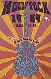 YASMINE HANCOCK Woodstock Metall Plaque Zinn Logo Poster