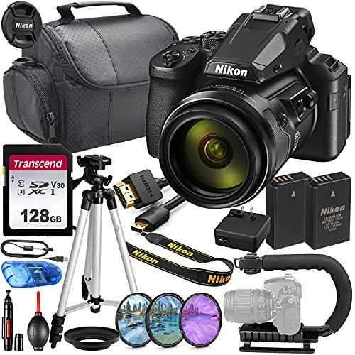 Nikon COOLPIX P950 Digital Camera MFR #26532 Bundle + 128GB High Speed V30 Memory + Video U-Bracket + Bag, HD Filters & More