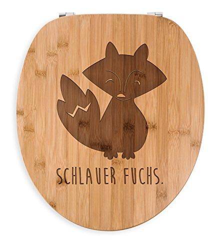 Mr. & Mrs. Panda Bad, Badezimmer, WC Sitz Fuchs Deluxe mit Spruch - Farbe Transparent