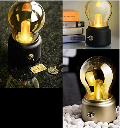 Lampes de Bureau Lampe de Table Lampe, Bureau Lampe LED, Ampoule rétro Forme veilleuse de Chargement USB
