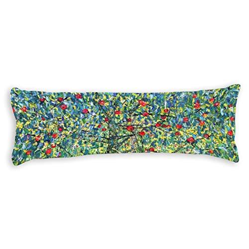 VinMea Soft Body Pillow Case Cover Gustav Klimt Apple Tree Long Body Pillow Cover Pillowcase 20x54 Inch