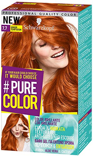 Schwarzkopf Pure Gel Permanent de couleur Coloration N ° 7.7 Ginger Temptation (3er Lot)