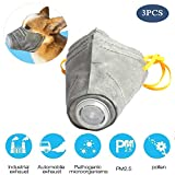 BEUTEESER 3 PCS Dog Mask, Breathable Pet Muzzle Protective Masks for Small to Dogs Filter Air Pollutants Anti Fog/Anti Dust/Anti Secondhand Smoke, Pet Respirator Mask (M)