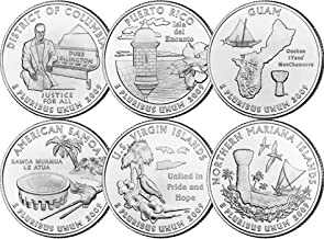 2009 P Complete Set of all 6 DC & Territories Quarters Uncirculated