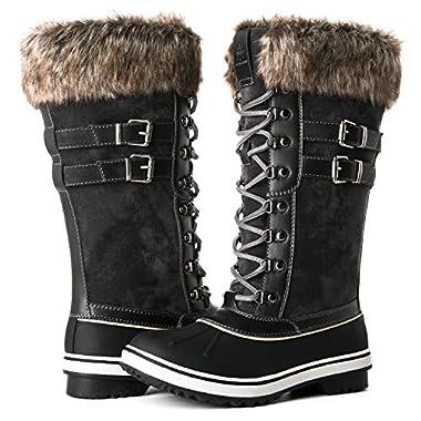 Globalwin Women's 1735 Grey Waterproof Snow Boots 9M US