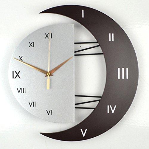 William 337 Horloge Murale européenne Salon Horloge de Luxe Art Jardin Horloge Murale décorative Personnalité créative Horloge Horloge Mute (Taille : 39 * 41cm, Style : A)