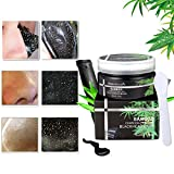 LuckyFine Bamboo charcoal peel-off blackhead mask- Purifying Quality Black Pore Removal Peel off Strip Charcoal Mask for Face Nose