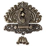 Shengsheng Bisagras para Puertas Vintage Estilo Retro Decorativo hasp Maleta Maleta Caja de Bloqueo Gancho pestillo Hebillas Bisagra Gabinete