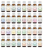 Ultimate Essential Oil Set 32 - 10 ml 100% Pure Therapeutic Grade for Aromatherapy Diffuser, Skin, Body, Hair. Perfect for DYI Crafts, Soap, Lotion, Cream, Lip Balm and Candle Making.