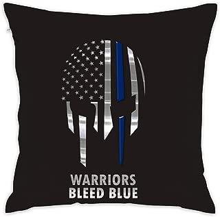 GinCrisis American Blue Silver Line Star Flag Pillow Cases Sofa Livingroom Home Decor Throw Cushion Cover