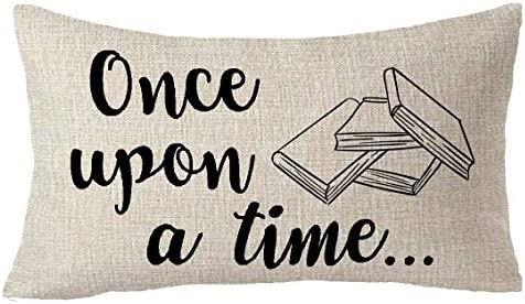 FELENIW Once Upon A Time Book Read More Book Classroom Library Book Store Decoration Throw Pillow product image