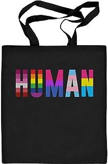 LGBTQ HUMAN Pride Artikel Jutebeutel Baumwolltasche One Size Schwarz
