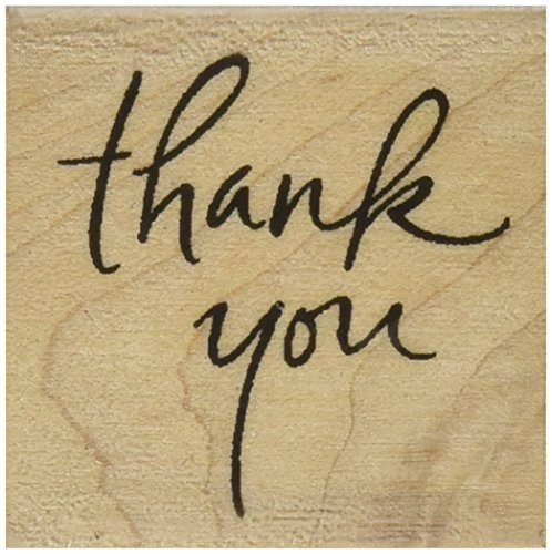 Inkadinkado Wood Stamp for Thank You Cards, 1.75'' W x 1.75'' L