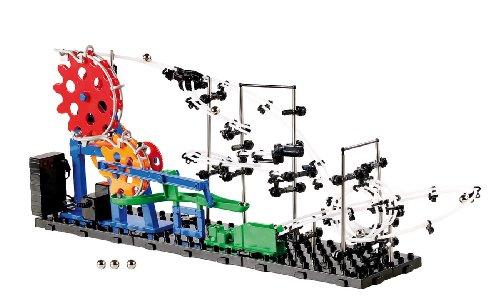 Playtastic Kugelbahn mit Looping: Kugel-Achterbahn Schwierigkeitsstufe I, 219 Teile (Achterbahn mit Metallkugel)