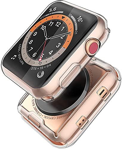 Piuellia [2-Pack] Transparent Case for Apple Watch Series 6 / SE/Series 5 /...