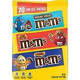M&M'S Hazelnut Spread, Peanut Butter & Caramel Chocolate Candy Fun Size Variety Mix, 43 Ounces,…