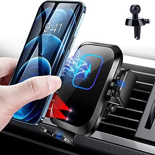 Blsyetec 15W Caricatore Wireless Auto Qi Caricabatterie Ricarica Rapida Supporto per Telefono per iPhone11/X/8/XR/XS/XR, Galaxy S9/Note8/S8/S7/S6, Huawei Mate20 Pro/P30