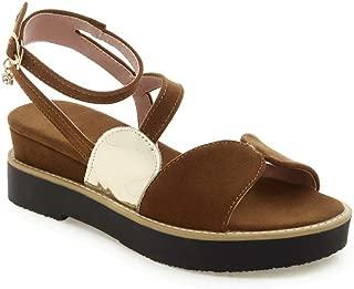 BalaMasa Womens ASL06911 Pu Platform Heels