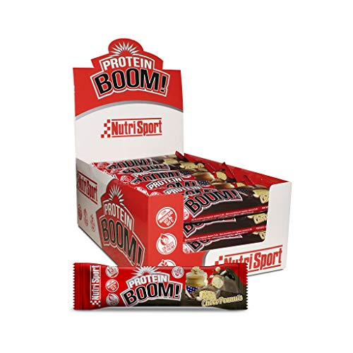 Nutrisport – Barritas Proteicas para Deportistas, Sabor Chocopeanuts, Caja de 24 Barritas, 24 x 49G