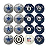 Imperial Officially Licensed NFL Dallas Cowboys Pool Balls with Numbers, Black, one Size (626-1)