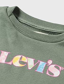 Levi's Kids LVG Graphic Crew Sweatshirt C725, Sea Spray, 16 Ans Fille