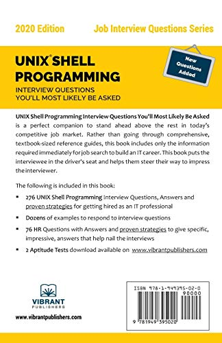 UNIX Shell Programming Interview Questions You'll Most Likely Be Asked: 27 (Job Interview Questions)