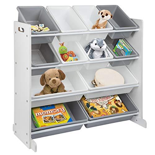 ONVAYA Scaffalatura per bambini | Organizer | Scaffale per giocattoli con scatole (organizzatore per giocattoli)