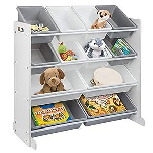 ONVAYA® Estantería infantil | Organizador | Estantería para juguetes con cajas (organizador de juguetes)