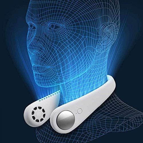 POIUYT USB Ventilator,Nackenventilator 360 ° Kreiswind 3 Speed Operation Für Outdoor Reisen Büro Camping
