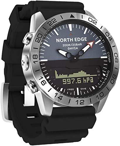 JSL Reloj digital multifunción al aire libre con pantalla dual para hombre de presión de altitud 200 m impermeable buceo reloj de pulsera con cronómetro contador de calorías brújula
