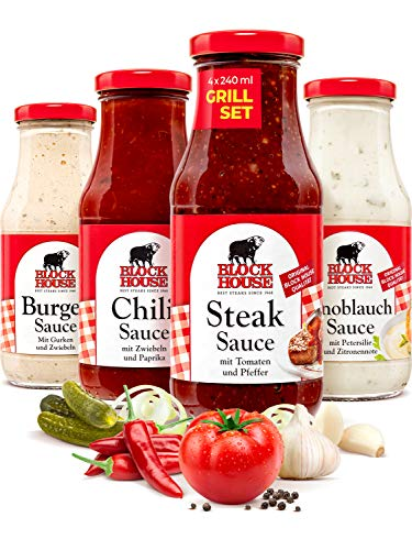 Block House Saucen Set Burger & Chili & Steak & Knoblauch Sauce