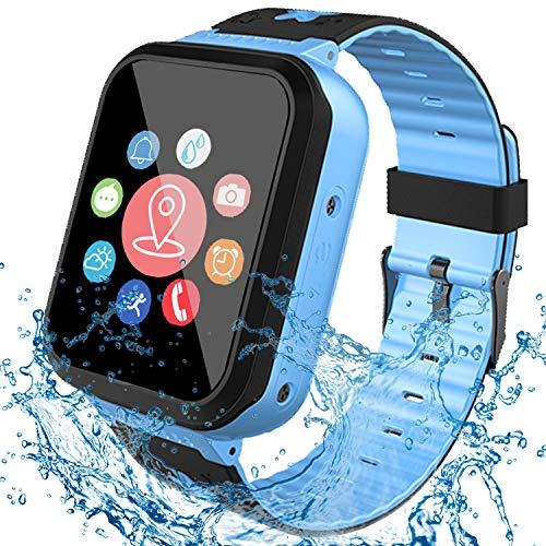[IP68 Waterproof] Smart Watch for Kids, GPS Tracker Watch with SOS Alarm...