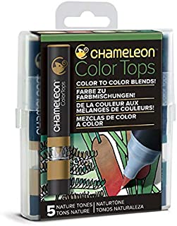 Chameleon Art Products - 5 Color Tops; Puntas de mezcla Chameleon; Tonos Naturaleza