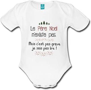 yonacrea Gar/çon Body B/éb/é Manches Courtes Touche Pas Humour