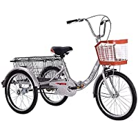折りたたみ式大人用三輪車20インチ 1スピード 3輪自転車 大人用 三輪自転車 トライク マンパワーペダル 折りたたみ式三輪車 男性女性向けショッピング シティバイク